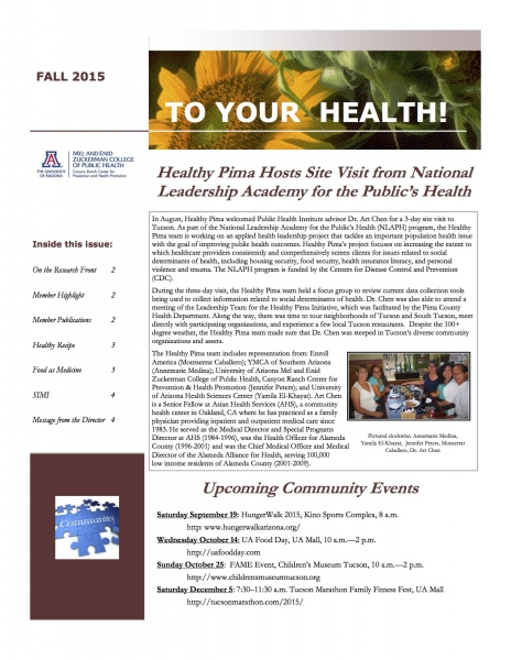 Newsletters canyon ranch center for prevention and health promotion on the research front 2 member highlight 2 member publications 2 healthy recipe 3 food as medicine 3 simi 4 message from the director 2 forumfinder Gallery