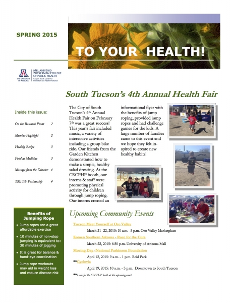 Newsletters canyon ranch center for prevention and health promotion healthy recipe 3 food as medicine 3 message from the director 4 tmfff partnership 4 forumfinder Gallery